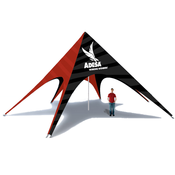 To stand out in a sea of average looking shelters the use of the Star Tent will create a sense of distinction that will leave an unmistakable image to all ...  sc 1 st  Colorado Canopies & Star Tent - Custom printed star shaped or starshade canopies and tents